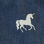 denim print unicorn